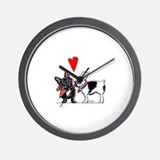 French Kiss Wall Clock