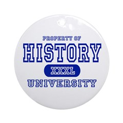 History University Ornament (Round)