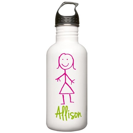 Allison-cute-stick-girl.png Stainless Water Bottle