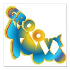 """Groovy Square Car Magnet 3"""" x 3"""""""