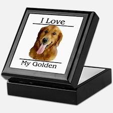I Love My Golden Keepsake Box