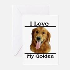 I Love My Golden Greeting Cards (Pk of 10)