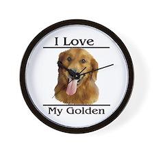 I Love My Golden Wall Clock