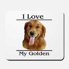 I Love My Golden Mousepad