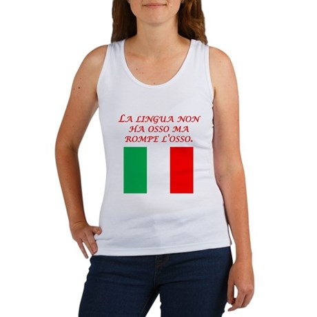 Italian Proverb The Tongue Women's Tank Top