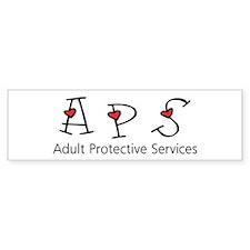 APS Hearts Bumper Bumper Sticker