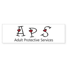 APS Hearts Bumper Car Sticker
