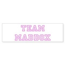 Pink team Maddox Bumper Bumper Sticker