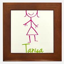 Tanya-cute-stick-girl.png Framed Tile