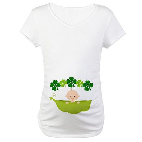 Irish Baby St Patricks Pea Pod Maternity T-Shirt