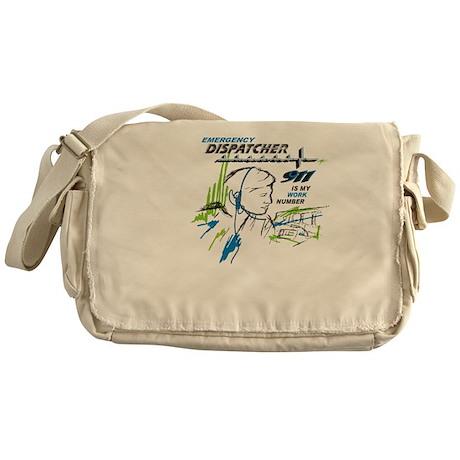 911 Dispatcher, blue and green Messenger Bag