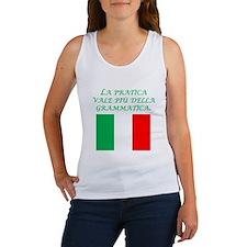 Italian Proverb Experience Women's Tank Top