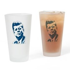 John F Kennedy Tribute Drinking Glass