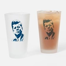 John F Kennedy Tribute Drinking Glass
