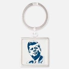 John F Kennedy Tribute Square Keychain