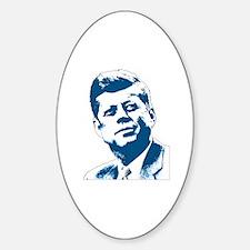 John F Kennedy Tribute Sticker (Oval)