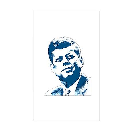 John F Kennedy Tribute Sticker (Rectangle)