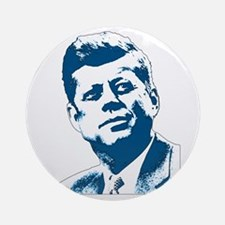 John F Kennedy Tribute Ornament (Round)