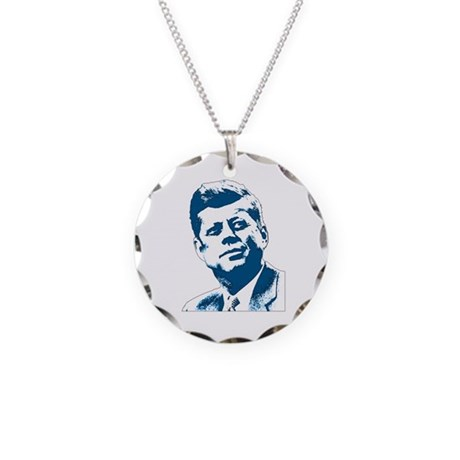 John F Kennedy Tribute Necklace Circle Charm