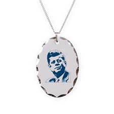 John F Kennedy Tribute Necklace Oval Charm