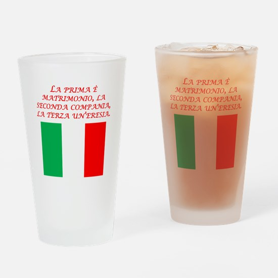 Italian Proverb Marriage Drinking Glass