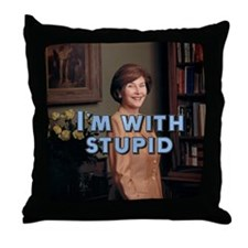 I'm with stupid Throw Pillow