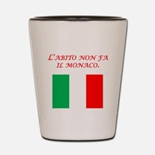 Italian Proverb Habit Monk Shot Glass