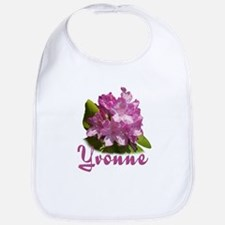 Yvonne: Purple Flower Bib