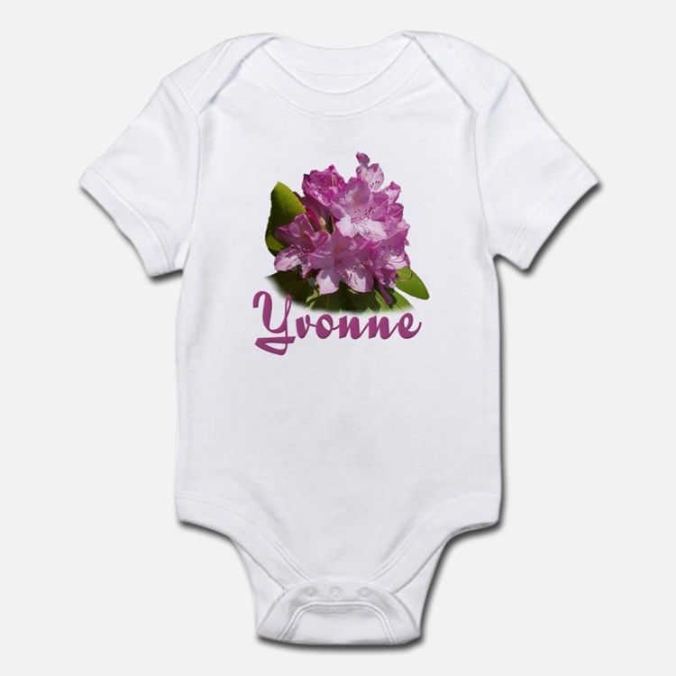 Yvonne: Purple Flower Infant Bodysuit