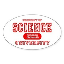 Science University Oval Decal