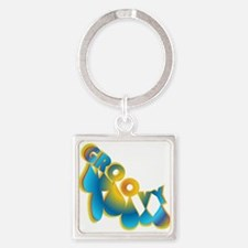 Groovy Square Keychain