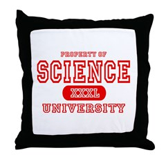 Science University Throw Pillow