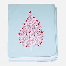 red heart leaf baby blanket
