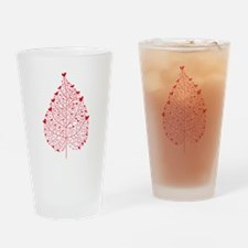 red heart leaf Drinking Glass