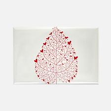 red heart leaf Rectangle Magnet