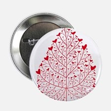 "red heart leaf 2.25"" Button"