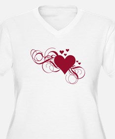 red heart with swirls T-Shirt