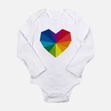 colorful geometric heart Long Sleeve Infant Bodysu