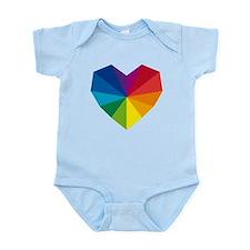 colorful geometric heart Onesie