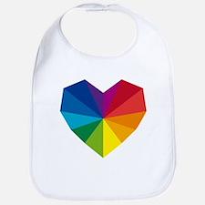 colorful geometric heart Bib
