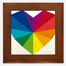 colorful geometric heart Framed Tile