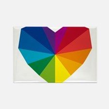 colorful geometric heart Rectangle Magnet