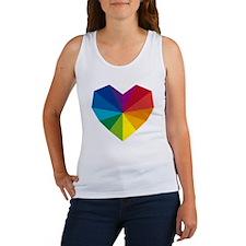 colorful geometric heart Women's Tank Top