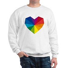 colorful geometric heart Sweatshirt