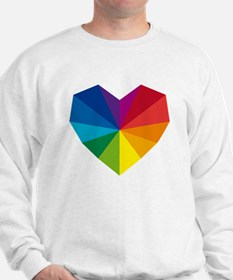 colorful geometric heart Sweatshirt