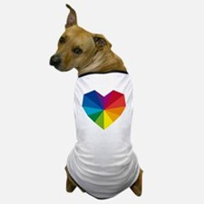 colorful geometric heart Dog T-Shirt