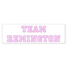 Pink team Remington Bumper Bumper Sticker