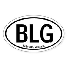 Belgrade, Montana Oval Decal