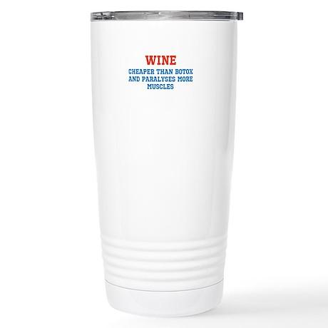 WINE vs BOTOX Stainless Steel Travel Mug