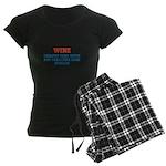 WINE vs BOTOX Women's Dark Pajamas